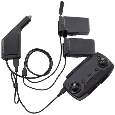 Battery Car Charger for DJI Mavic Air (USB + 2 x Charging Output)