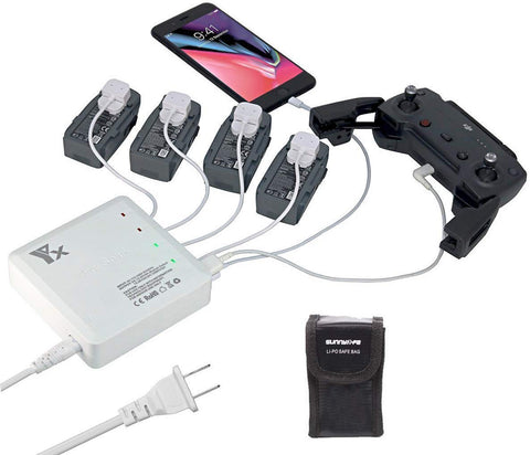 6 in 1 Rapid Parallel Battery Charger for DJI Spark