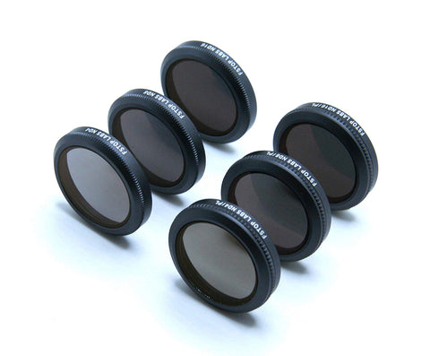 Lens Filters for DJI Mavic 2 Zoom Camera Lens Set, Multi Coated Filters Pack Accessories (6 Pack) ND4, ND8, ND16, ND4/CPL, ND8/CPL, ND16/CPL - F/Stop Labs