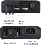 5 in 1 Mavic 2 Battery Charger, Charge 3 Batteries + 2 USB Ports