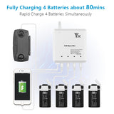 Mavic Mini Battery Charger, 6 in 1 Battery Charging Hub, 4 Batteries, 2 USB Ports - F/Stop Labs