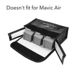 Mavic Air 2 Drone Battery LiPo Safe Bag Protective Storage Bag for 3 Batteries
