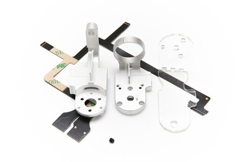 DJI Phantom 3 Gimbal Yaw Roll Arm Replacement - Aluminum CNC, Includes Ribbon Cable + Set Screw (Pro/Adv/4K) - F/Stop Labs