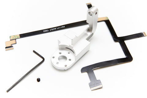 DJI Phantom 3 Gimbal Yaw Arm Replacement - Aluminum CNC, Includes Ribbon Cable + Set Screw (STANDARD) - F/Stop Labs