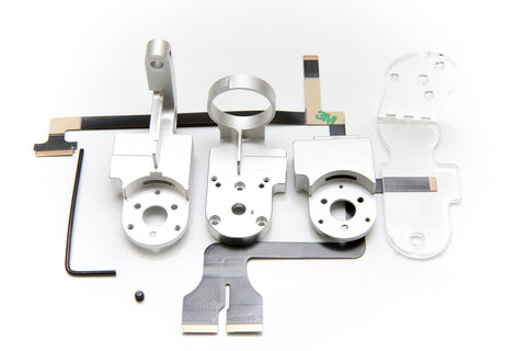 DJI Phantom 3 Gimbal Yaw Roll Cover Arm Replacement - Includes Ribbon Cable + Set Screw (Pro/Adv/4K) - F/Stop Labs