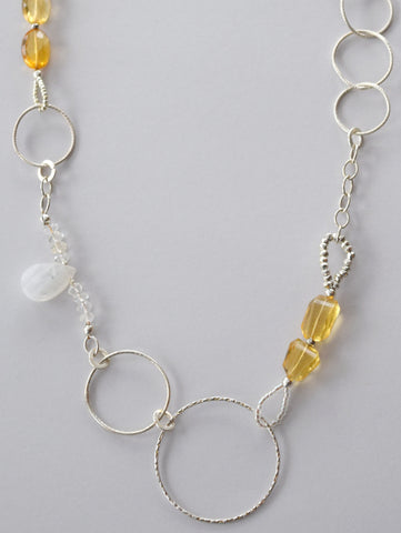 Citrine Circular Necklace