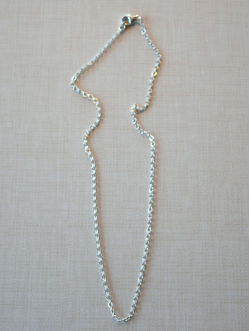 Petite Silver Chain Necklace
