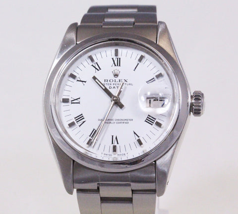 Rolex Oyster Perpetual Date Men's Stainless Steel Watch 1500