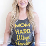 MOM HARD, WINE HARDER Hoodie + Tank - MootsClothing, Funny, moots, kids fashion, cool kids clothes, mom life, motherhood, wine, baby clothes, children's clothes, childrens clothing, babies clothing, toddler clothing, you're my person, fashion, women's fashion, funny kids tee, mom, gift, toddler fashion, mother, parenthood, funny t shirts, funny shirts, funny shirt, coffee, humor, java, funny, caffeine, coffee jokes, coffee lover gifts, coffee t shirts, coffee shirts, kids shirts, toddler shirts, baby shirts, mom shirts, gifts for coffee lovers, gifts for wine lovers, wine shirts, coffee gifts, wine gifts, wine shirt, graphic tee,
