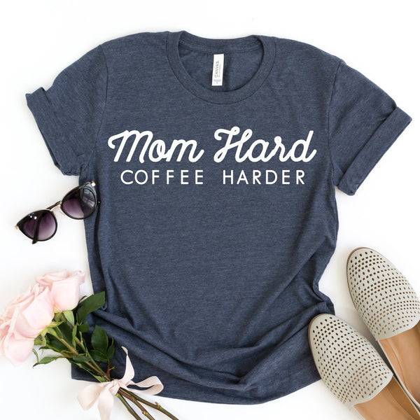 Mom Hard, Coffee Harder - MootsClothing, Funny, moots, kids fashion, cool kids clothes, mom life, motherhood, wine, baby clothes, children's clothes, childrens clothing, babies clothing, toddler clothing, you're my person, fashion, women's fashion, funny kids tee, mom, gift, toddler fashion, mother, parenthood, funny t shirts, funny shirts, funny shirt, coffee, humor, java, funny, caffeine, coffee jokes, coffee lover gifts, coffee t shirts, coffee shirts, kids shirts, toddler shirts, baby shirts, mom shirts, gifts for coffee lovers, gifts for wine lovers, wine shirts, coffee gifts, wine gifts, wine shirt, graphic tee,