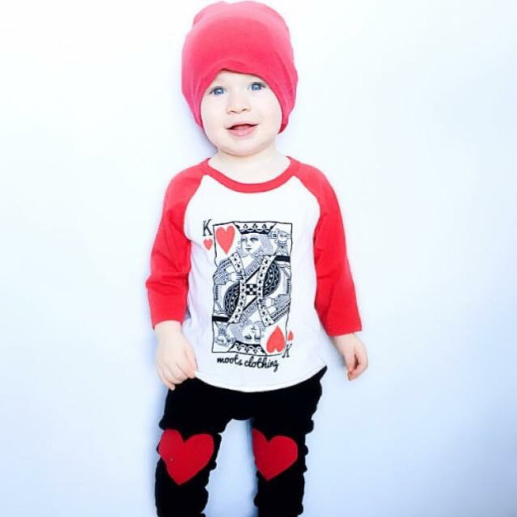 King of Hearts Raglan - MootsClothing, Funny, moots, kids fashion, cool kids clothes, mom life, motherhood, wine, baby clothes, children's clothes, childrens clothing, babies clothing, toddler clothing, you're my person, fashion, women's fashion, funny kids tee, mom, gift, toddler fashion, mother, parenthood, funny t shirts, funny shirts, funny shirt, coffee, humor, java, funny, caffeine, coffee jokes, coffee lover gifts, coffee t shirts, coffee shirts, kids shirts, toddler shirts, baby shirts, mom shirts, gifts for coffee lovers, gifts for wine lovers, wine shirts, coffee gifts, wine gifts, wine shirt, graphic tee,