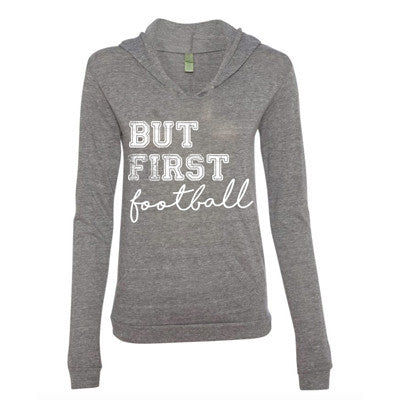But First, Football Hoodie + Tee - MootsClothing, Funny, moots, kids fashion, cool kids clothes, mom life, motherhood, wine, baby clothes, children's clothes, childrens clothing, babies clothing, toddler clothing, you're my person, fashion, women's fashion, funny kids tee, mom, gift, toddler fashion, mother, parenthood, funny t shirts, funny shirts, funny shirt, coffee, humor, java, funny, caffeine, coffee jokes, coffee lover gifts, coffee t shirts, coffee shirts, kids shirts, toddler shirts, baby shirts, mom shirts, gifts for coffee lovers, gifts for wine lovers, wine shirts, coffee gifts, wine gifts, wine shirt, graphic tee,