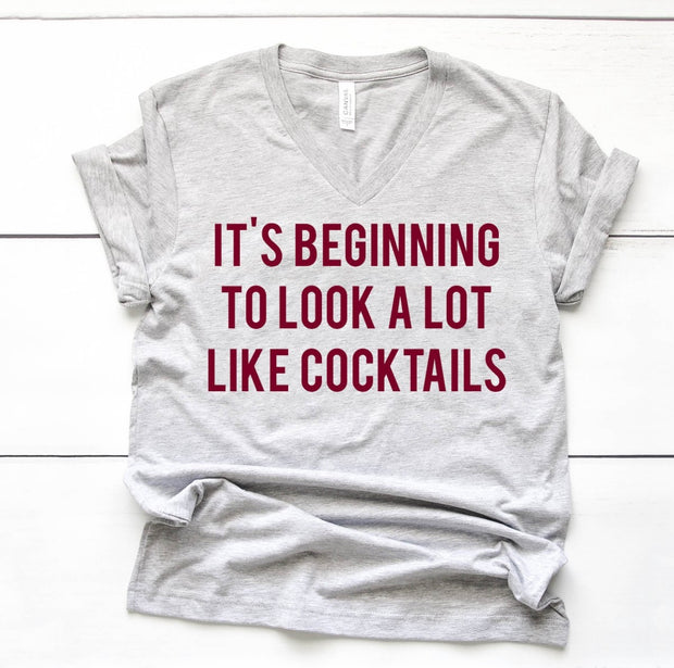 It's beginning to look a lot like cocktails Tee
