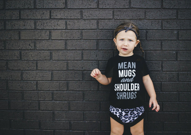 MEAN MUGS + SHOULDER SHRUGS Tee