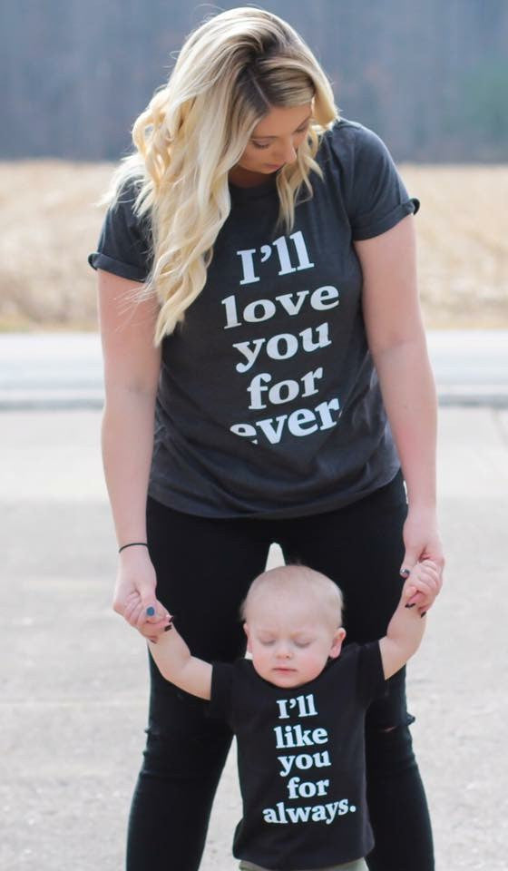 I'll love you forever - Adult - MootsClothing, Funny, moots, kids fashion, cool kids clothes, mom life, motherhood, wine, baby clothes, children's clothes, childrens clothing, babies clothing, toddler clothing, you're my person, fashion, women's fashion, funny kids tee, mom, gift, toddler fashion, mother, parenthood, funny t shirts, funny shirts, funny shirt, coffee, humor, java, funny, caffeine, coffee jokes, coffee lover gifts, coffee t shirts, coffee shirts, kids shirts, toddler shirts, baby shirts, mom shirts, gifts for coffee lovers, gifts for wine lovers, wine shirts, coffee gifts, wine gifts, wine shirt, graphic tee,