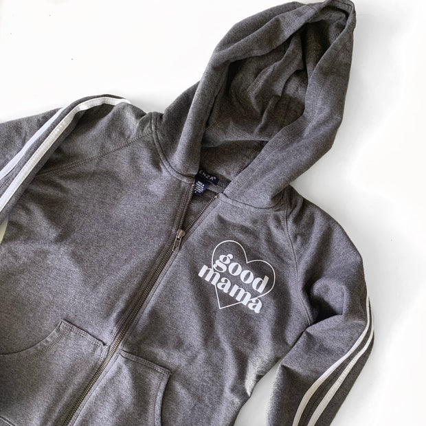 Good Mama Heart Track Zip Up