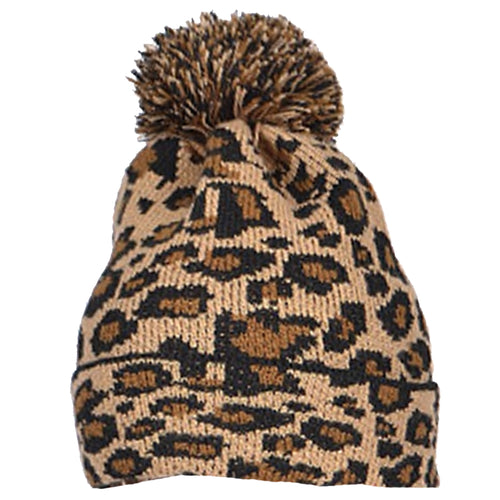 LEOPARD POM HAT (ADULT)