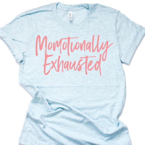 MOMOTIONALLY EXHAUSTED TEE (Ice Blue)