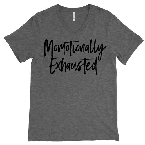 MOMOTIONALLY EXHAUSTED V-NECK