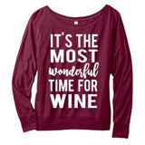 It's the most wonderful time for wine Long Sleeve - MootsClothing, Funny, moots, kids fashion, cool kids clothes, mom life, motherhood, wine, baby clothes, children's clothes, childrens clothing, babies clothing, toddler clothing, you're my person, fashion, women's fashion, funny kids tee, mom, gift, toddler fashion, mother, parenthood, funny t shirts, funny shirts, funny shirt, coffee, humor, java, funny, caffeine, coffee jokes, coffee lover gifts, coffee t shirts, coffee shirts, kids shirts, toddler shirts, baby shirts, mom shirts, gifts for coffee lovers, gifts for wine lovers, wine shirts, coffee gifts, wine gifts, wine shirt, graphic tee,