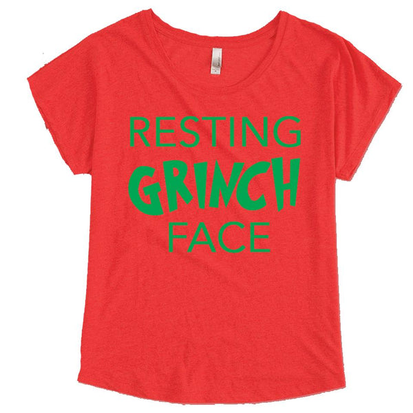 Resting Grinch Face Tee - Adults