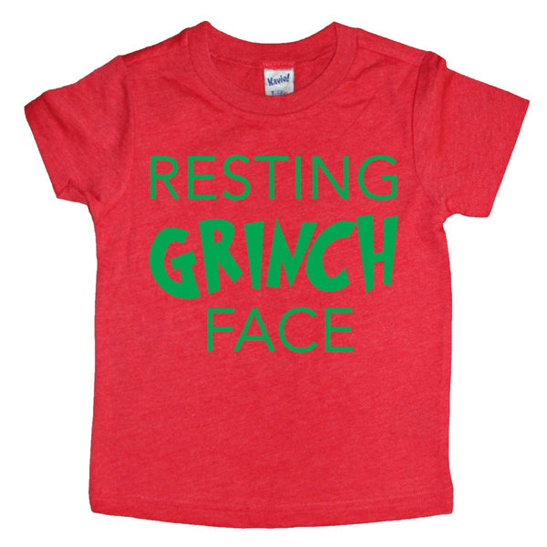Resting Grinch Face Tee - Kids