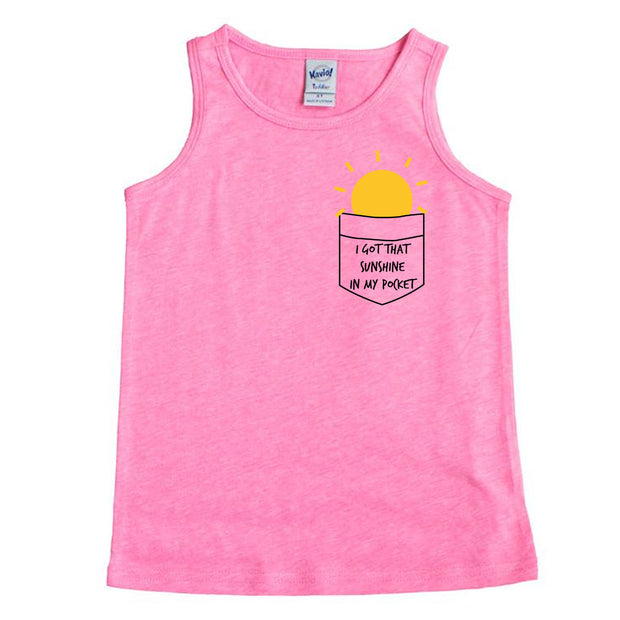 I GOT THAT SUNSHINE IN MY POCKET TANK - Pink