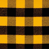 Mustard/Black Buffalo Plaid Snap Scarf