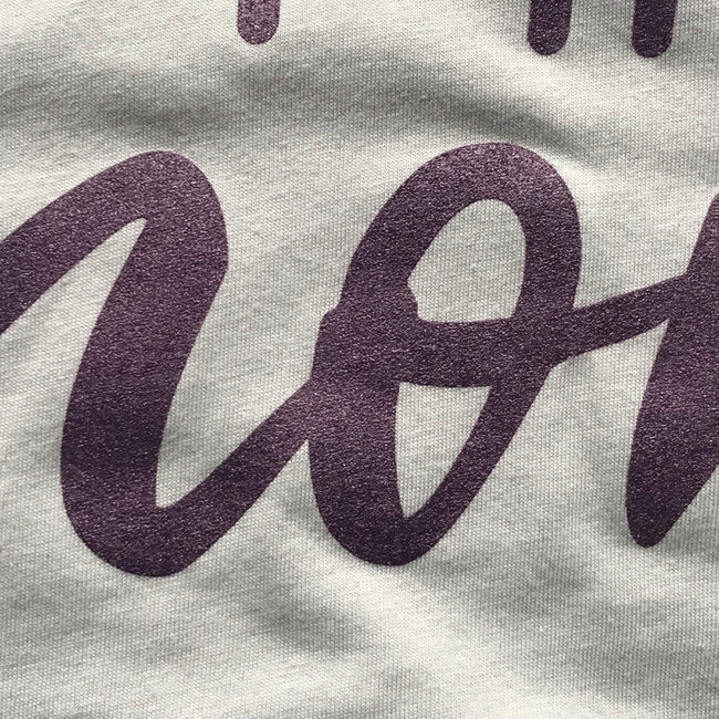 Best Effing Mom Short Sleeve - Limited Edition Dusty Blue with Purple Shimmer Ink