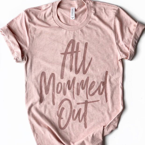 *RESTOCK* All Mommed Out - Peach with Rose Gold Shimmer
