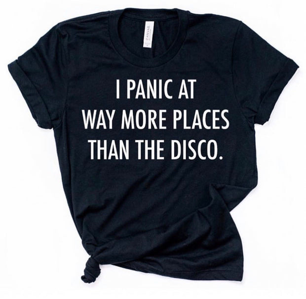 *RESTOCK* I panic at way more places than the disco Short Sleeve