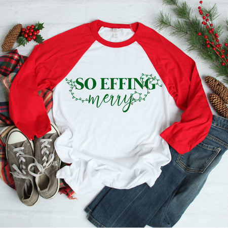 *NEW* Merry Christmas Ya Filthy Muggle Raglan - Adults