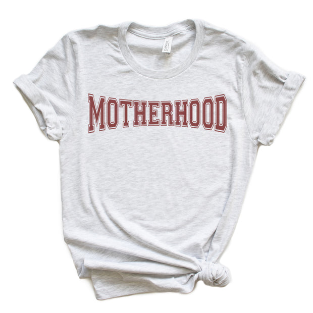*NEW* Motherhood Varsity Tee - Clay Ink