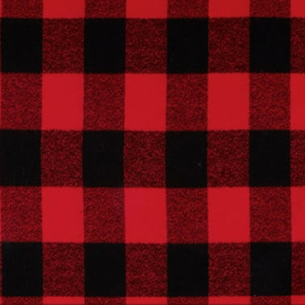 Red/Black Buffalo Plaid Snap Scarf