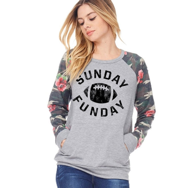 SUNDAY FUNDAY PULLOVER - GRAPHIC IS WHITE, NOT BLACK - S, M, L