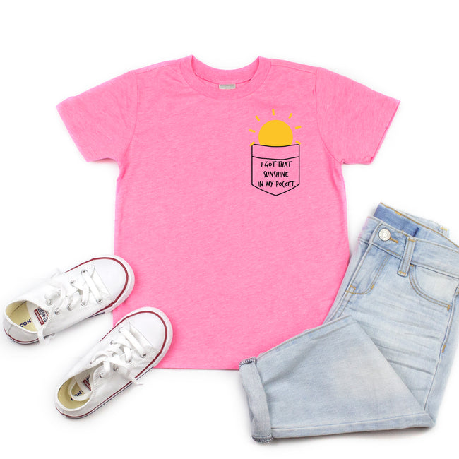 *NEW* I GOT THAT SUNSHINE IN MY POCKET TANK - Pink