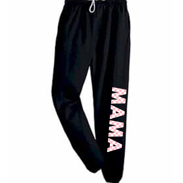 MAMA CHECKERED SWEATPANTS