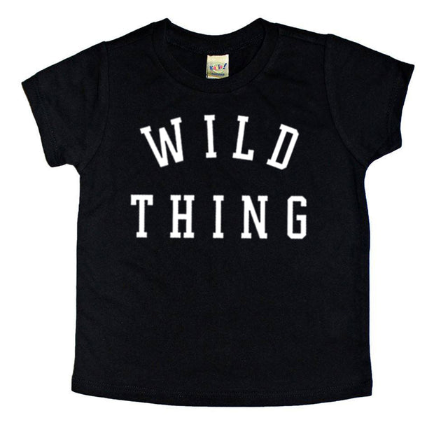 *NEW* Wild Thing Tee - Black with White Ink