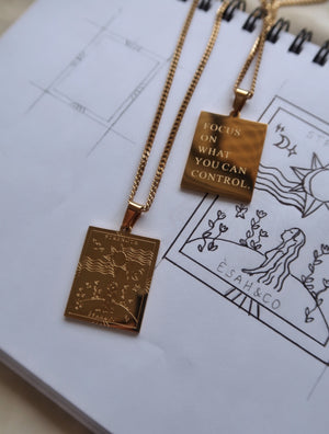 STRENGTH Affirmation Pendant Necklace - Esah and Co