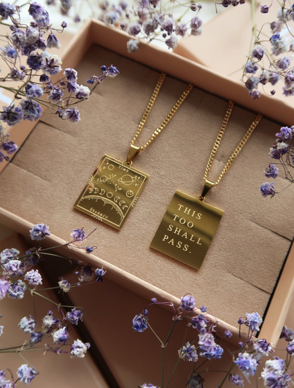 TIME Affirmation Pendant Necklace (PRE-ORDER) - Esah and Co