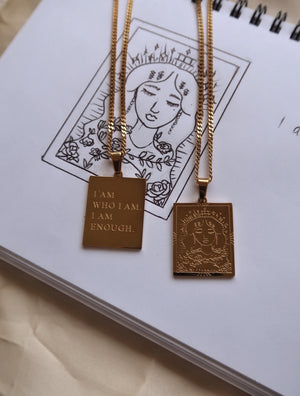 THE EMPRESS Affirmation Pendant Necklace - Esah and Co