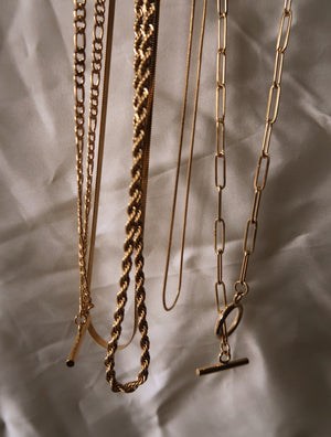 CYNTHIA 18K STAINLESS STEEL ROPE CHAIN NECKLACE - Esah and Co