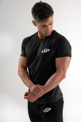 mens black fitness top