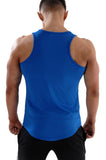 Men's performance and gymwear tank top- blue