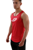 red performance and bodybuilding tank top