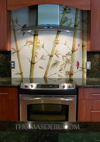 kitchen backsplash tile mural