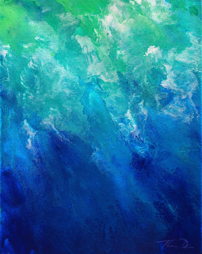 Oceans of Emotions 2 11x14 Painting