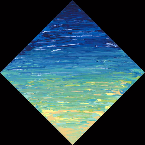 Beached Diamond 36 12x12 Painting