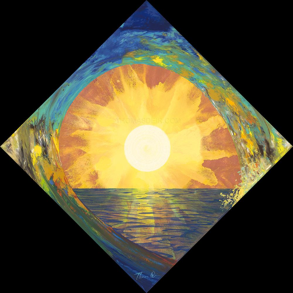 54 Diamond Sun Wave 12x12 Painting