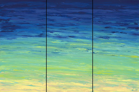 Beached Triptych by Hawaii Artist Thomas Deir